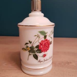 Pot vintage motif rosa indica - le grenier d'emilie