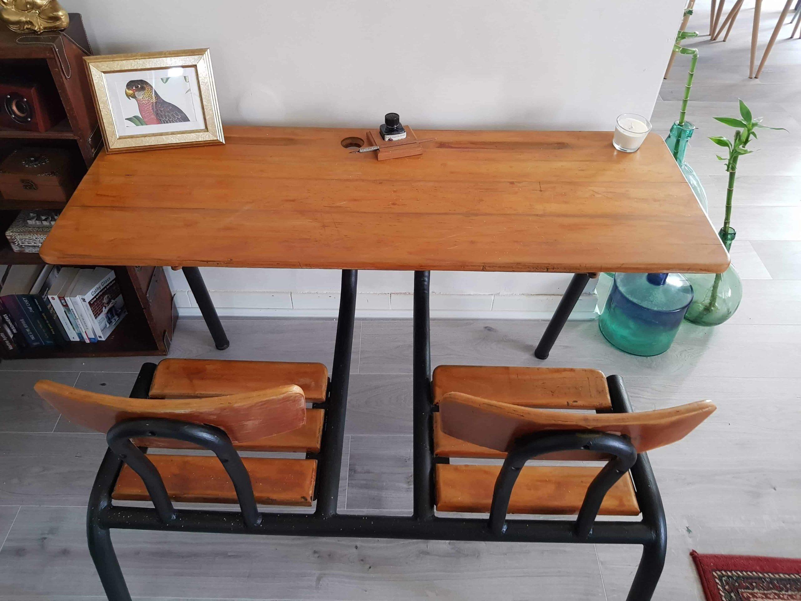 Bureau Ecolier Ancien Objets Retro Vintage Le Grenier D Emilie